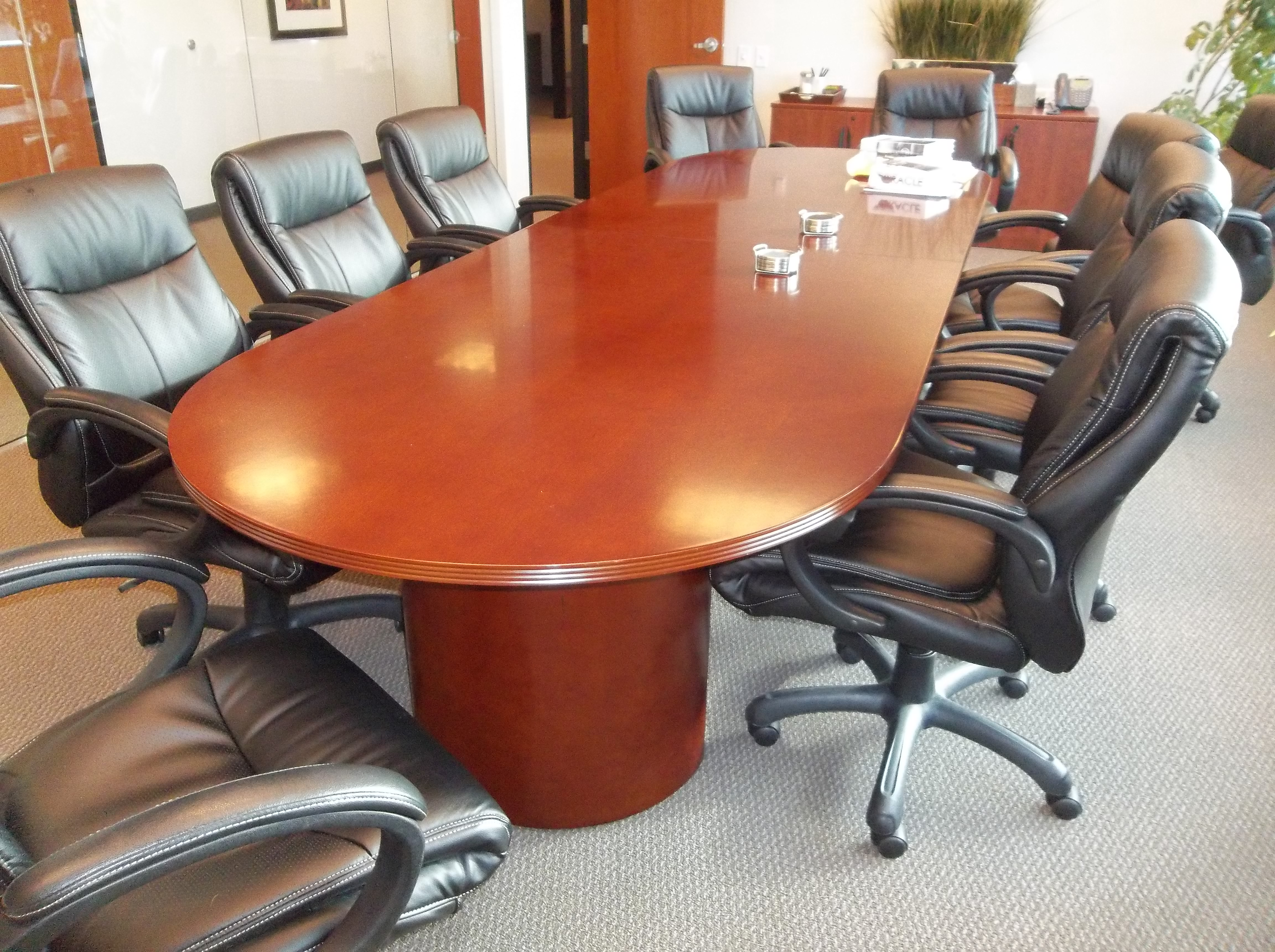 Used Conference Room Tables Chairs In All Shapes Sizes - Red conference table